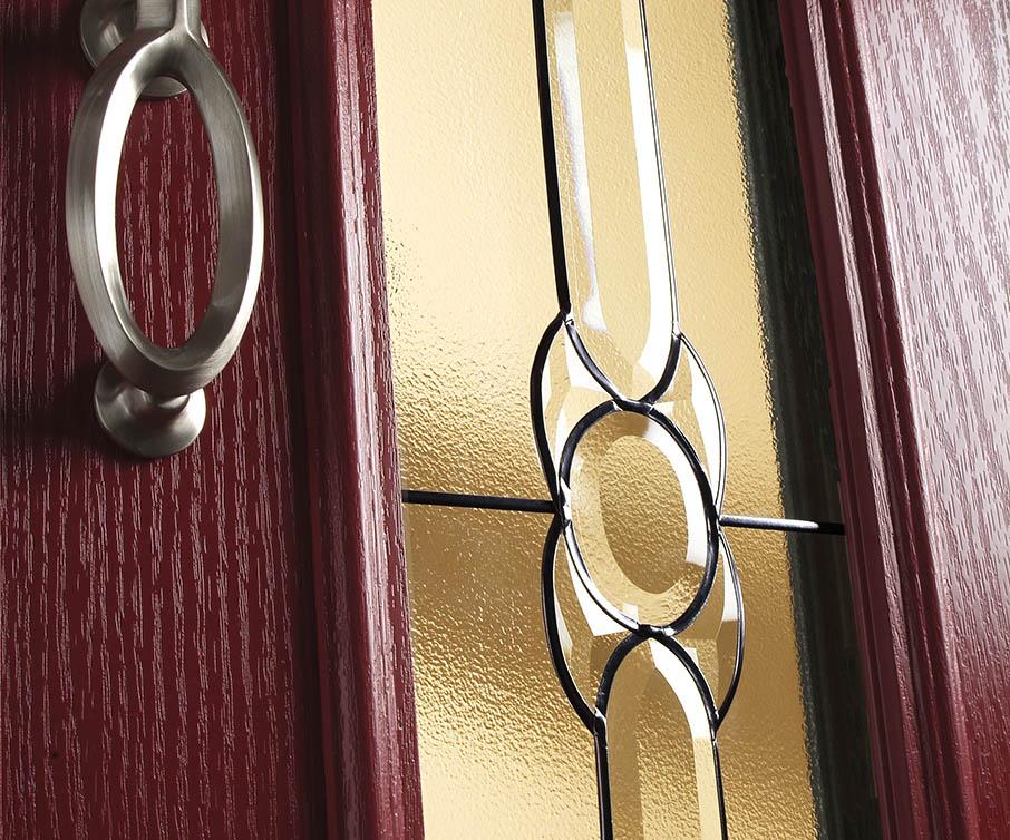 composite door glass close up