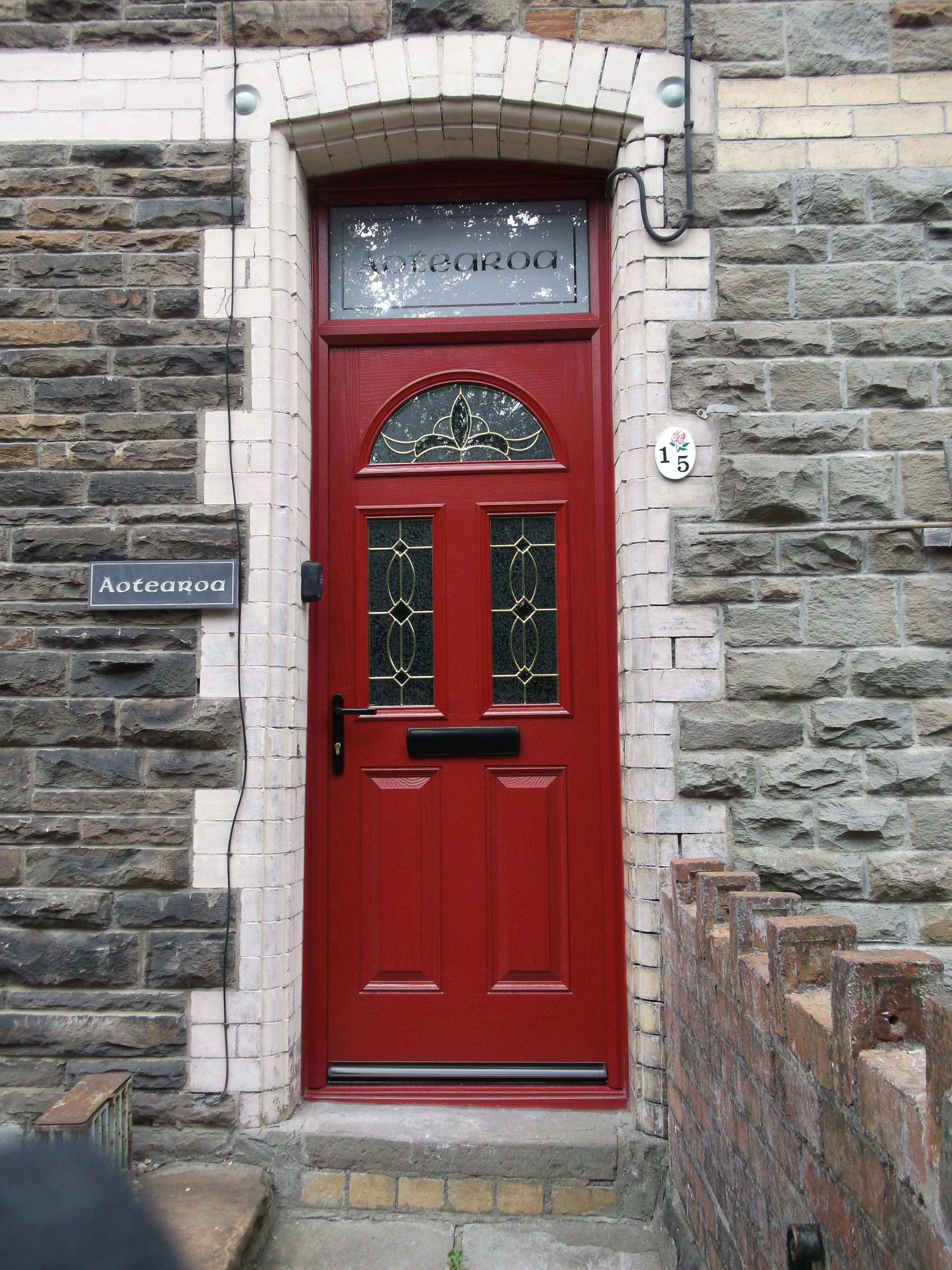 Composite Door Red And Frame 1 1 Idm Doors Ltd