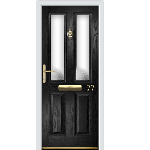 composite fire door black twin vertical